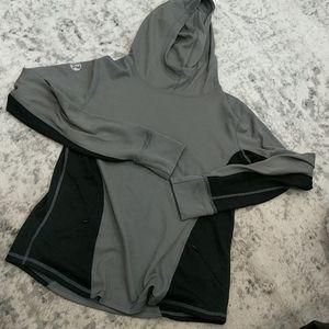 LULULEMON gray and black pullover hoodie